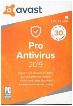 AVAST Pro AntiVirus 2019 (1 PC/1 Jahr) Produktbild