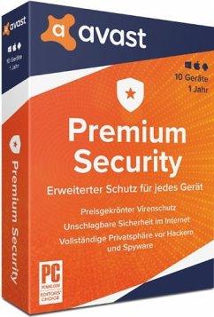 Avast Premium Security 2020 (10 Geräte/1 Jahr) Produktbild