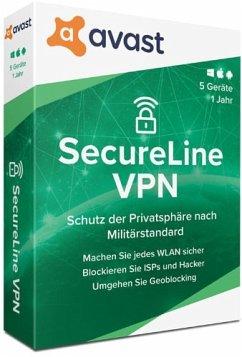 Avast SecureLine VPN 2020 (5 Geräte/1 Jahr) Produktbild