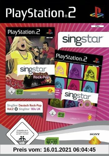 Singstar Doppelpack - Deutsch Rock-Pop Vol.2 + 80's UK [Software Pyramide] Produktbild