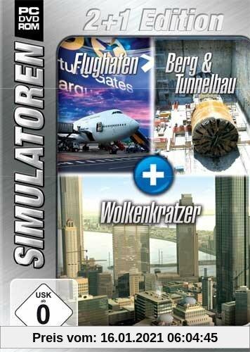Simulator Bundel: Flughafen, Berg- und Tunnelbau, Wolkenkratzer Sim 2+1 Blue Produktbild