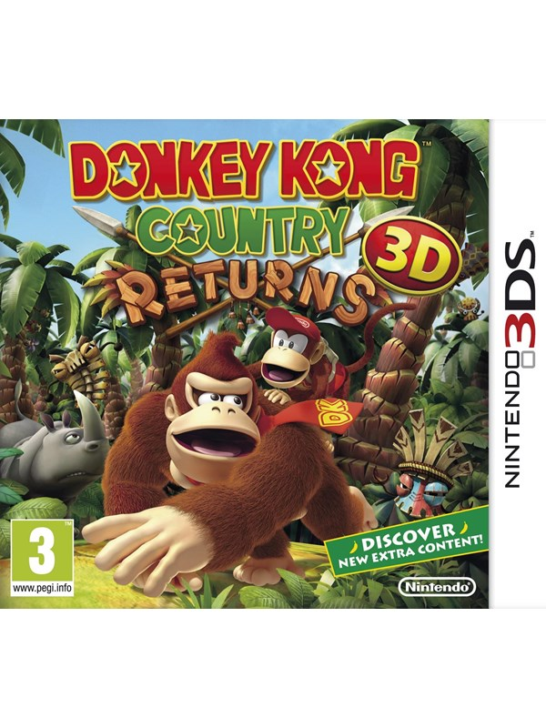 Donkey Kong Country Returns 3D - Nintendo 3DS - Action - PEGI 3 Produktbild