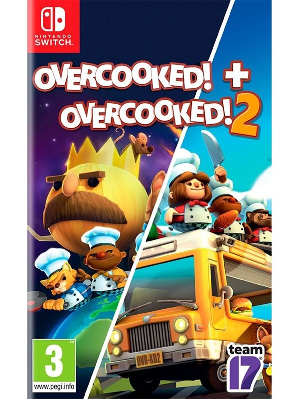 Overcooked + Overcooked 2 Double Pack - Nintendo Switch - Party - PEGI 3 Produktbild