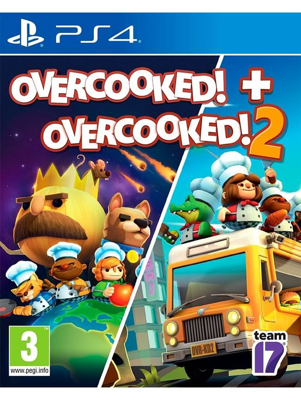 Overcooked! 1 & 2 - Sony PlayStation 4 - Party - PEGI 3 Produktbild