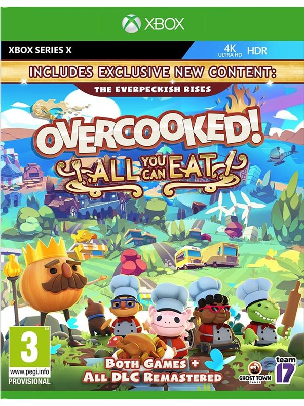 Overcooked! - All You Can Eat Edition - Microsoft Xbox Serie X - Party - PEGI 3 Produktbild